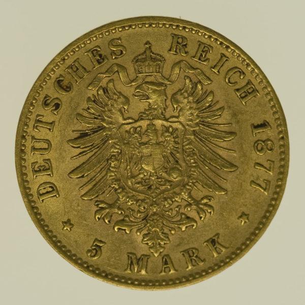 deutsches-kaiserreich-ab-1871 - Bayern Ludwig II. 5 Mark 1877