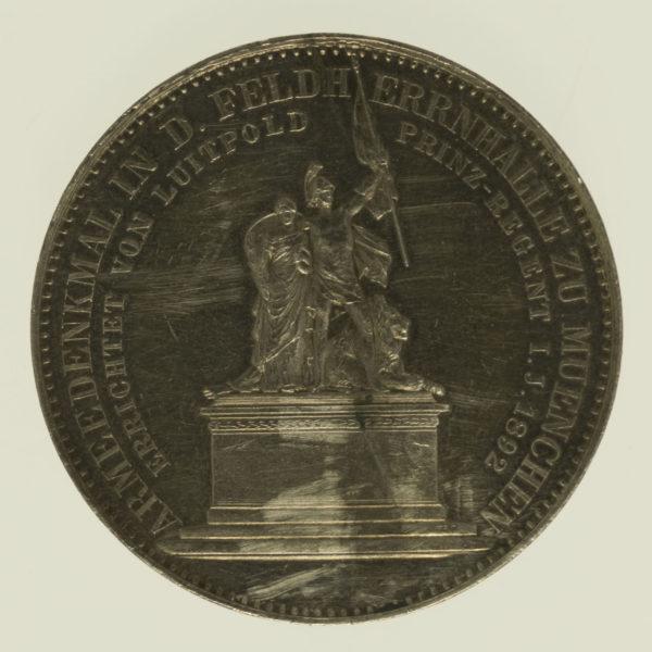 altdeutschland-deutsche-silbermuenzen - Bayern Luitpold Silbermedaille 1892