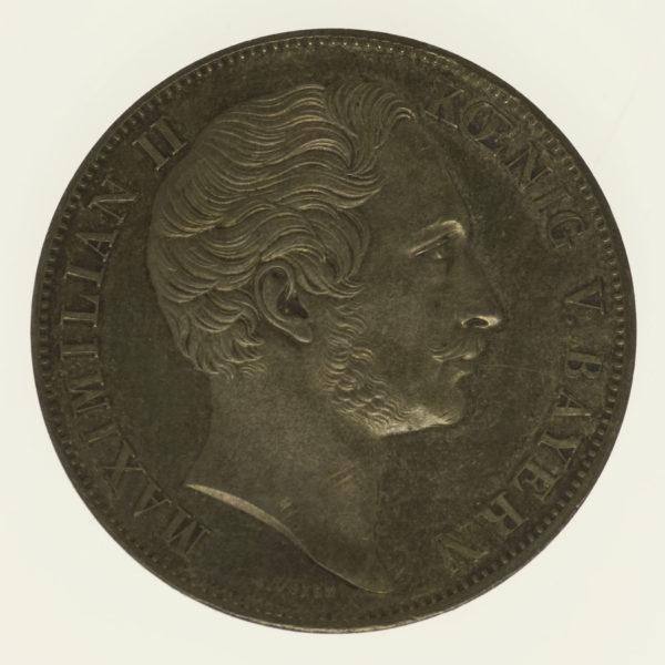 altdeutschland-deutsche-silbermuenzen - Bayern Maximilian II. Joseph Doppelgulden 1855