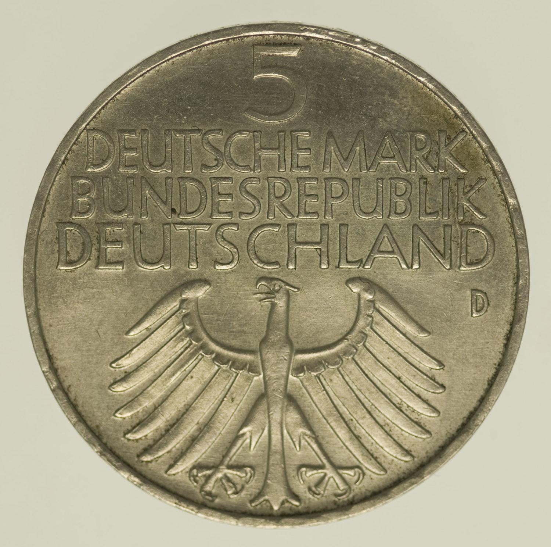 brd-deutsche-silbermuenzen - BRD 5 Mark 1952 Germanisches Museum
