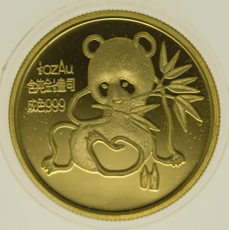 china - China Panda 1/2 Unze 1992 Munich International Coin Show