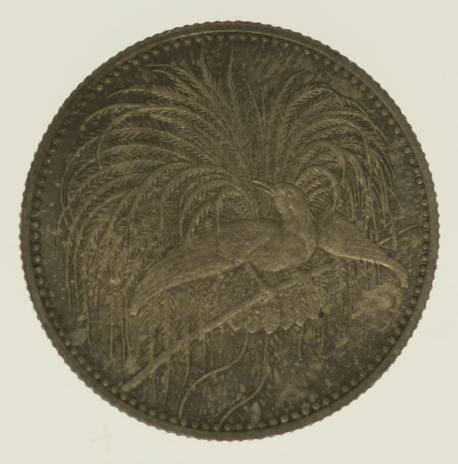 deutsche-kolonien-deutsche-silbermuenzen - Deutsch Neu Guinea Wilhelm II. 1/2 Mark 1894