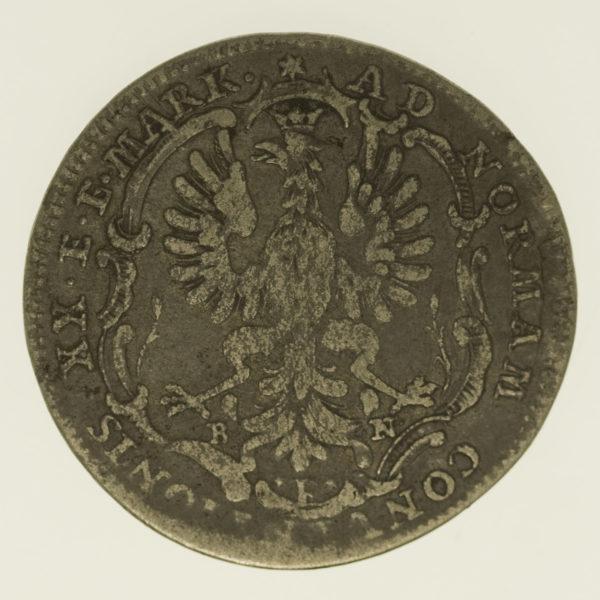 altdeutschland-deutsche-silbermuenzen - Frankfurt Stadt 1/2 Taler 1764
