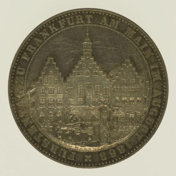 altdeutschland-deutsche-silbermuenzen - Frankfurt Stadt Vereinstaler 1863