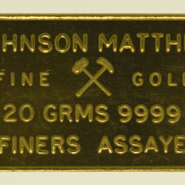 goldbarren - Goldbarren 20 Gramm Johnson Matthey