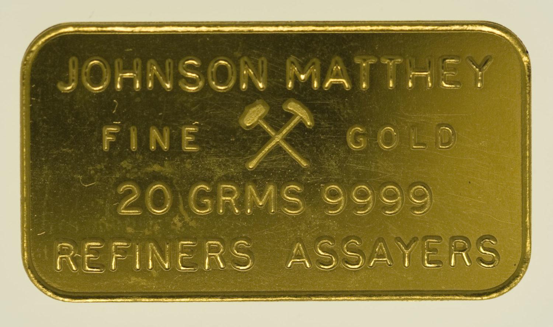 goldbarren - Goldbarren 20 GrammJohnson Matthey