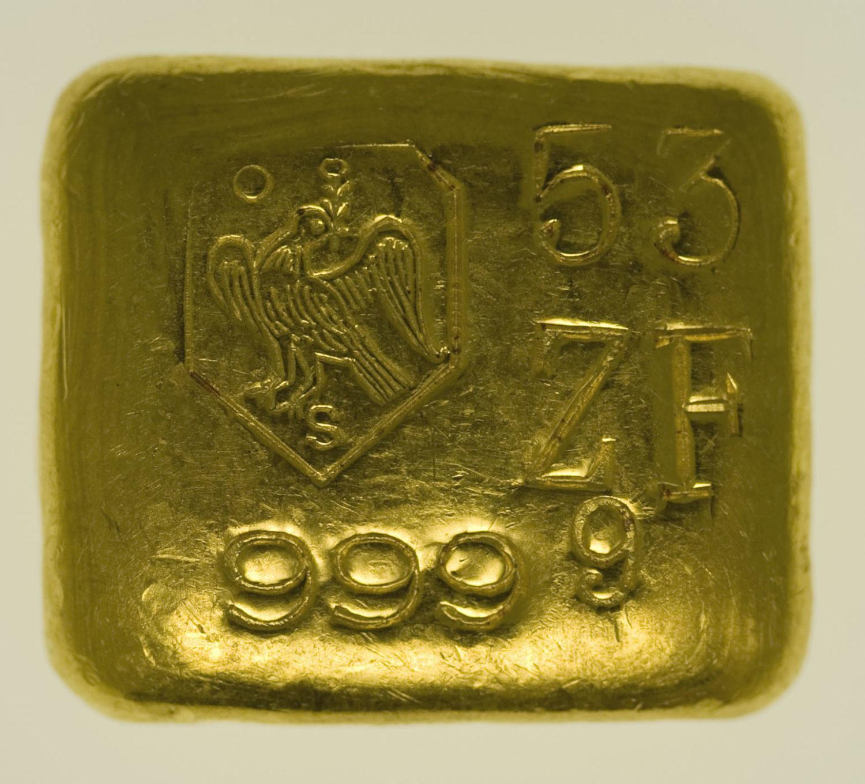 goldbarren - Goldbarren 50 Gramm Schöne Edelmetaal B.V.