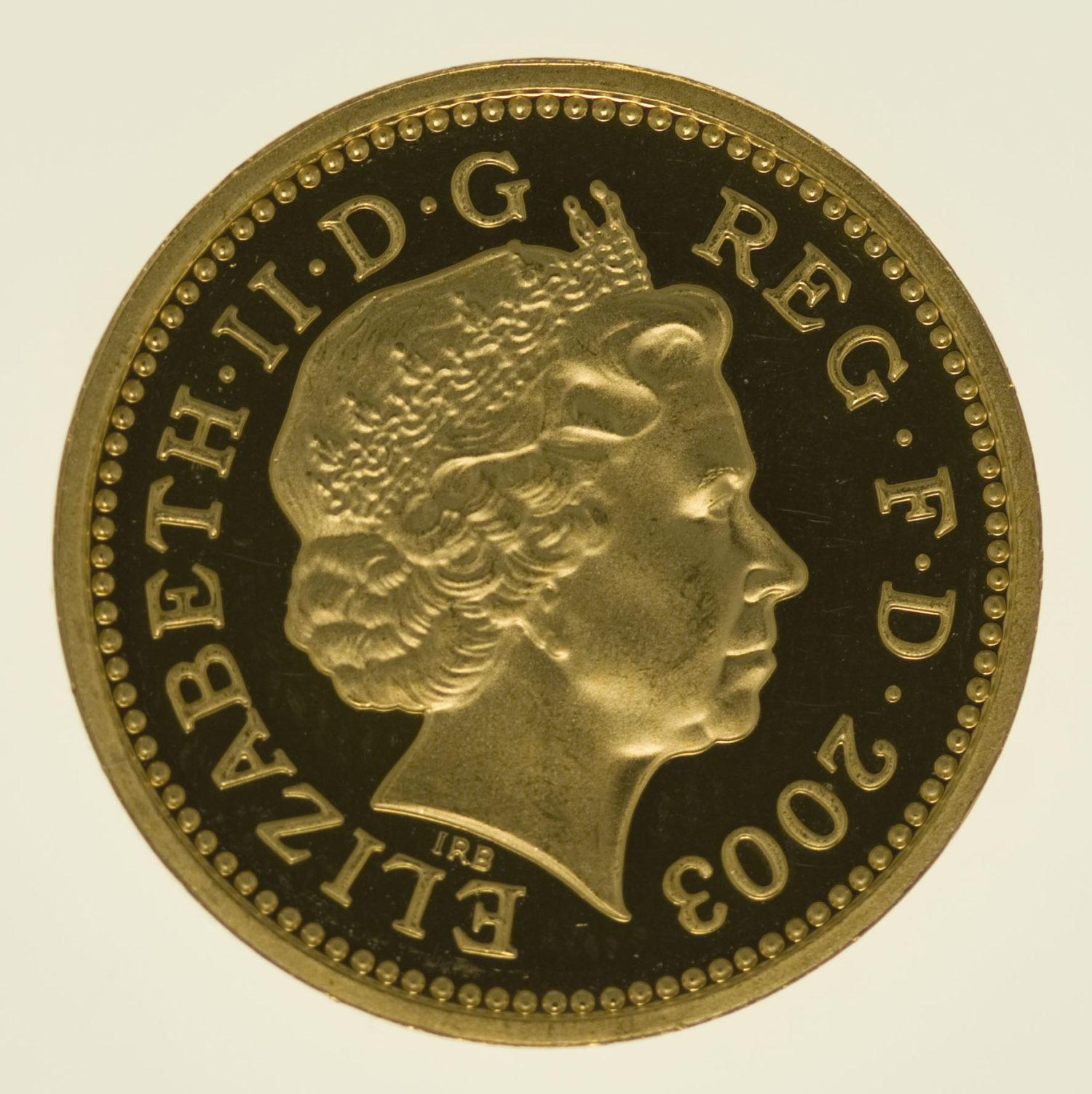 grossbritannien - Großbritannien Elisabeth II. One Pound 2003 Pattern