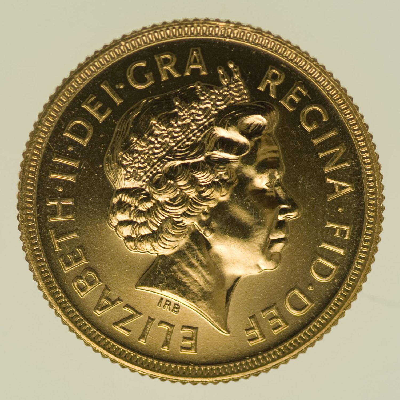 grossbritannien - Großbritannien Elisabeth II. Sovereign 2002