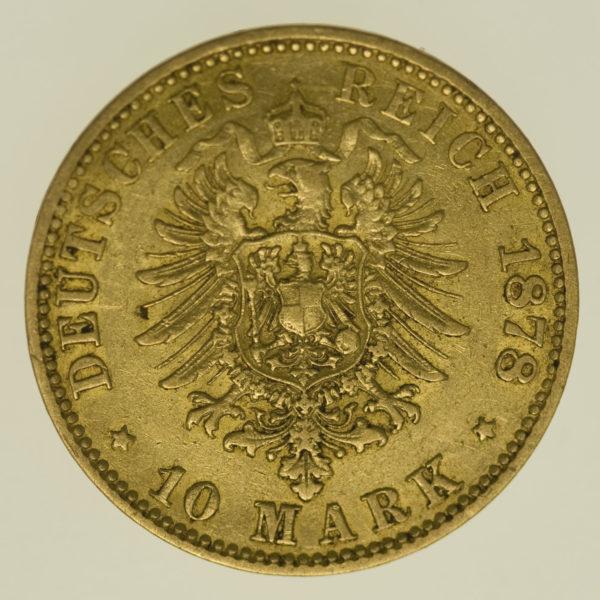 deutsches-kaiserreich-ab-1871 - Hamburg 10 Mark 1878
