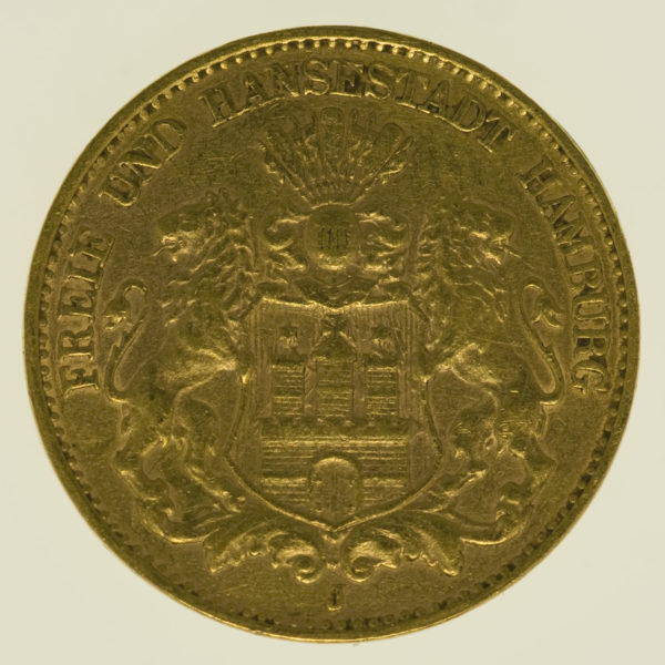 deutsches-kaiserreich-ab-1871 - Hamburg 10 Mark 1903