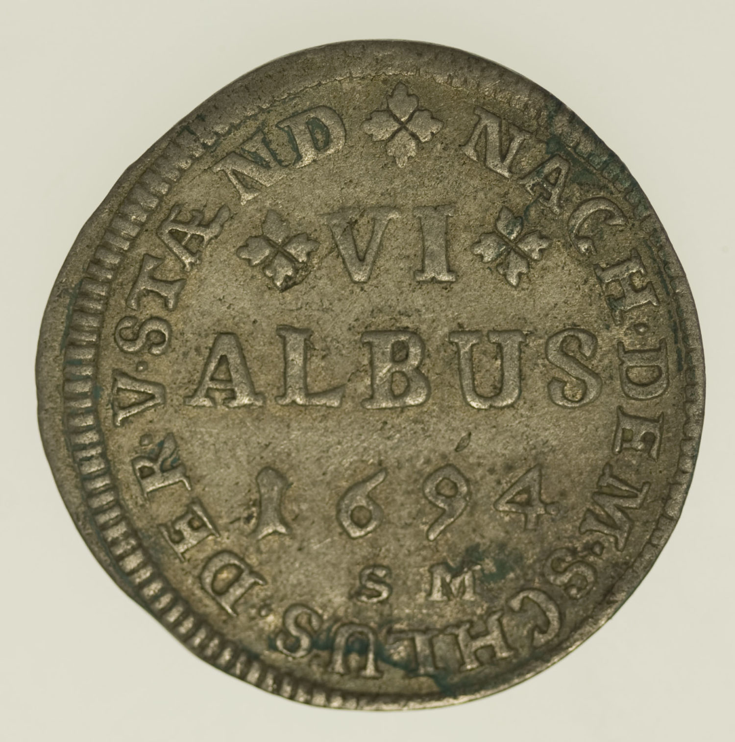 altdeutschland-deutsche-silbermuenzen - Hanau Lichtenberg Philipp Reinhard VI Albus 1694