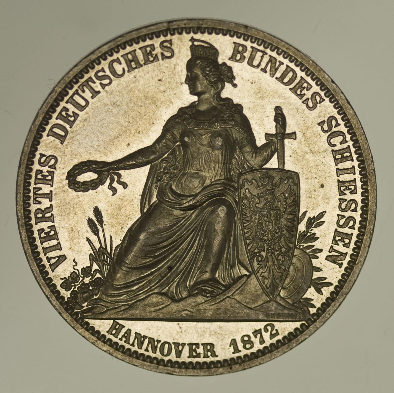 altdeutschland-deutsche-silbermuenzen - Hannover Silbermedaille 1872