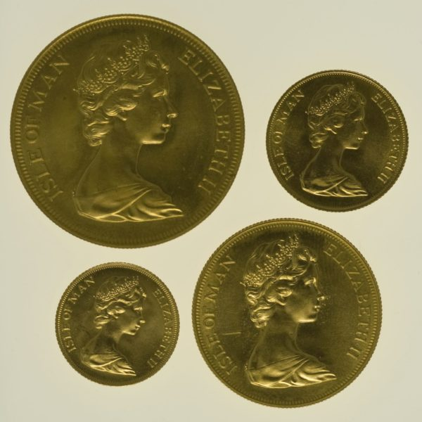 isle-of-man - Isle of Man Elisabeth II. 4 Coin Set 1973