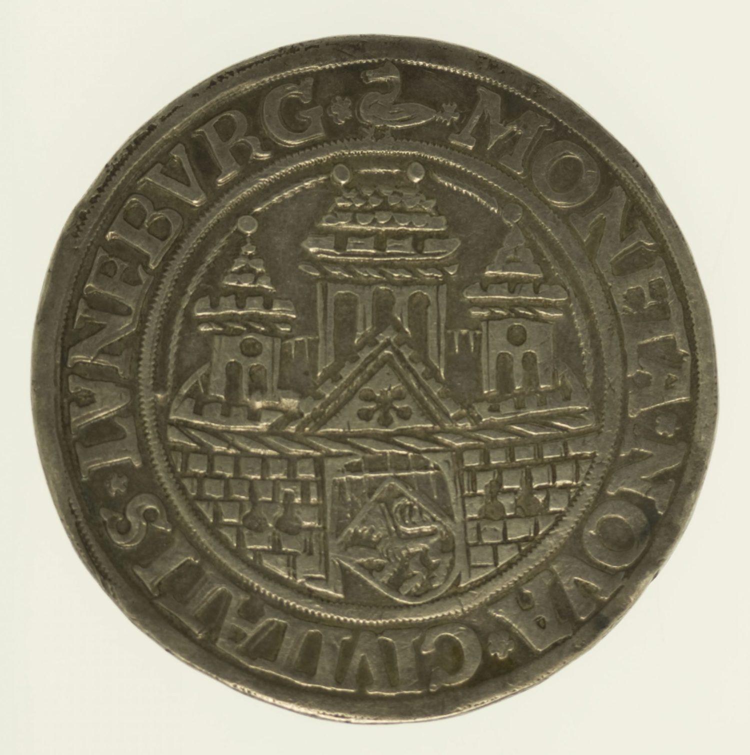 altdeutschland-deutsche-silbermuenzen - Lüneburg Stadt Taler 1547