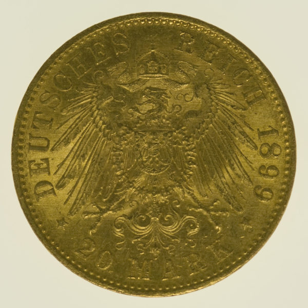deutsches-kaiserreich-ab-1871 - Preussen Wilhelm II.20 Mark1899
