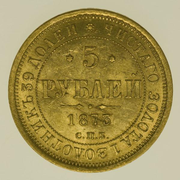 russland - Russland Alexander II. 5 Rubel 1873