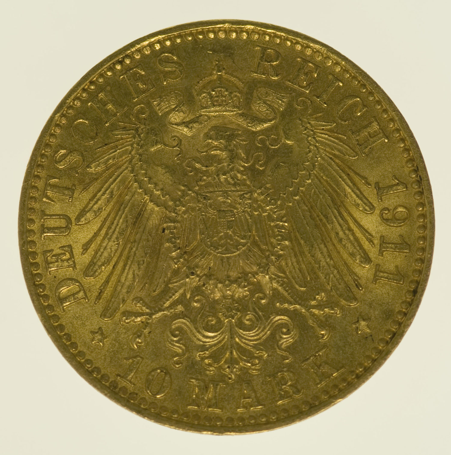 deutsches-kaiserreich-ab-1871 - Sachsen Friedrich August 10 Mark 1911