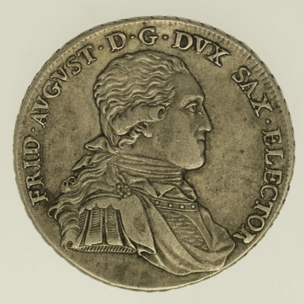 altdeutschland-deutsche-silbermuenzen - Sachsen Friedrich August III. Taler 1795
