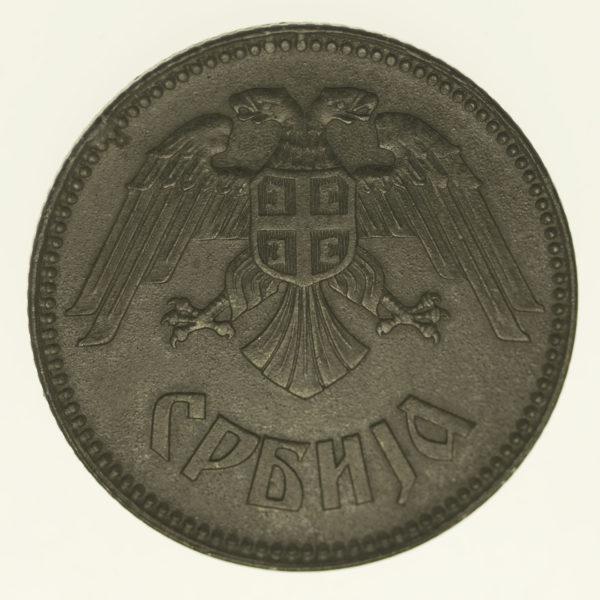 serbien-silbermuenzen-uebriges-europa - Serbien 10 Dinara 1943
