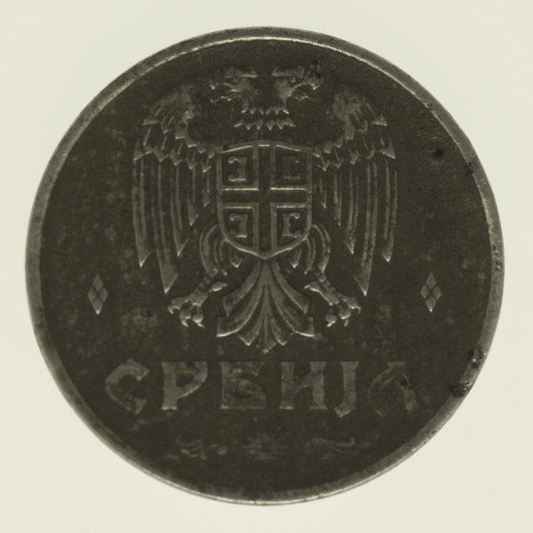 serbien-silbermuenzen-uebriges-europa - Serbien 2 Dinara 1942