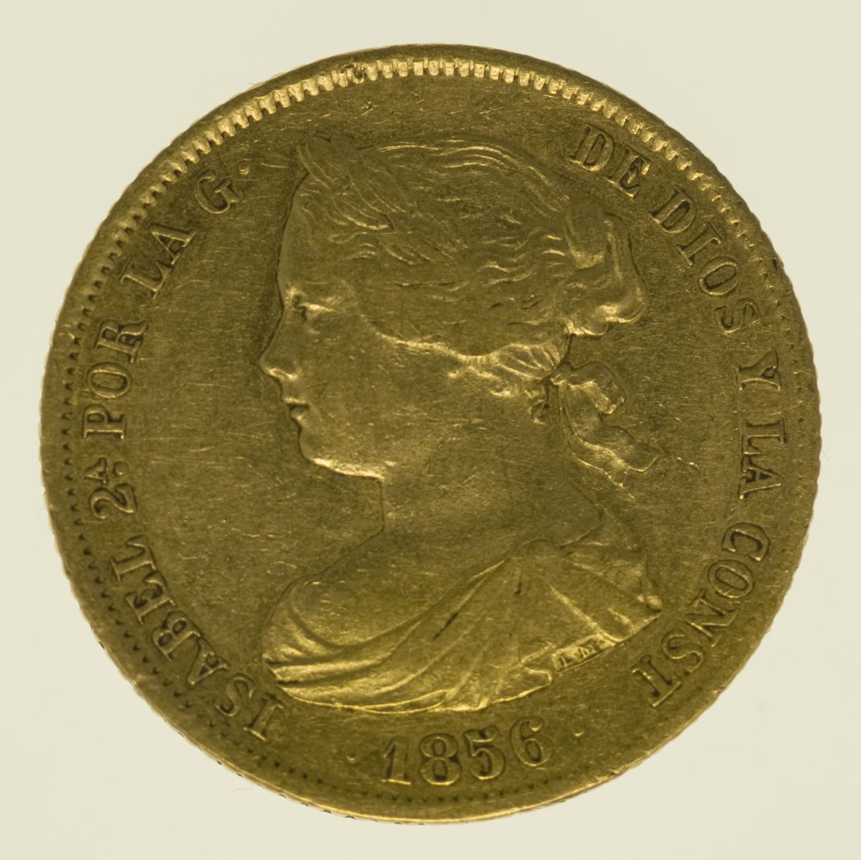 spanien - Spanien Isabel II. 100 Reales 1856