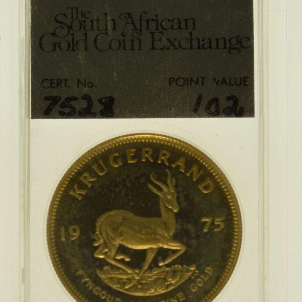 suedafrika - Südafrika Krügerrand 1 Unze 1975 proof