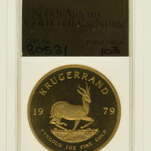 suedafrika - Südafrika Krügerrand 1 Unze 1979 proof