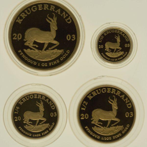 suedafrika - Südafrika Krügerrand 4 Coin Proof Set 2003