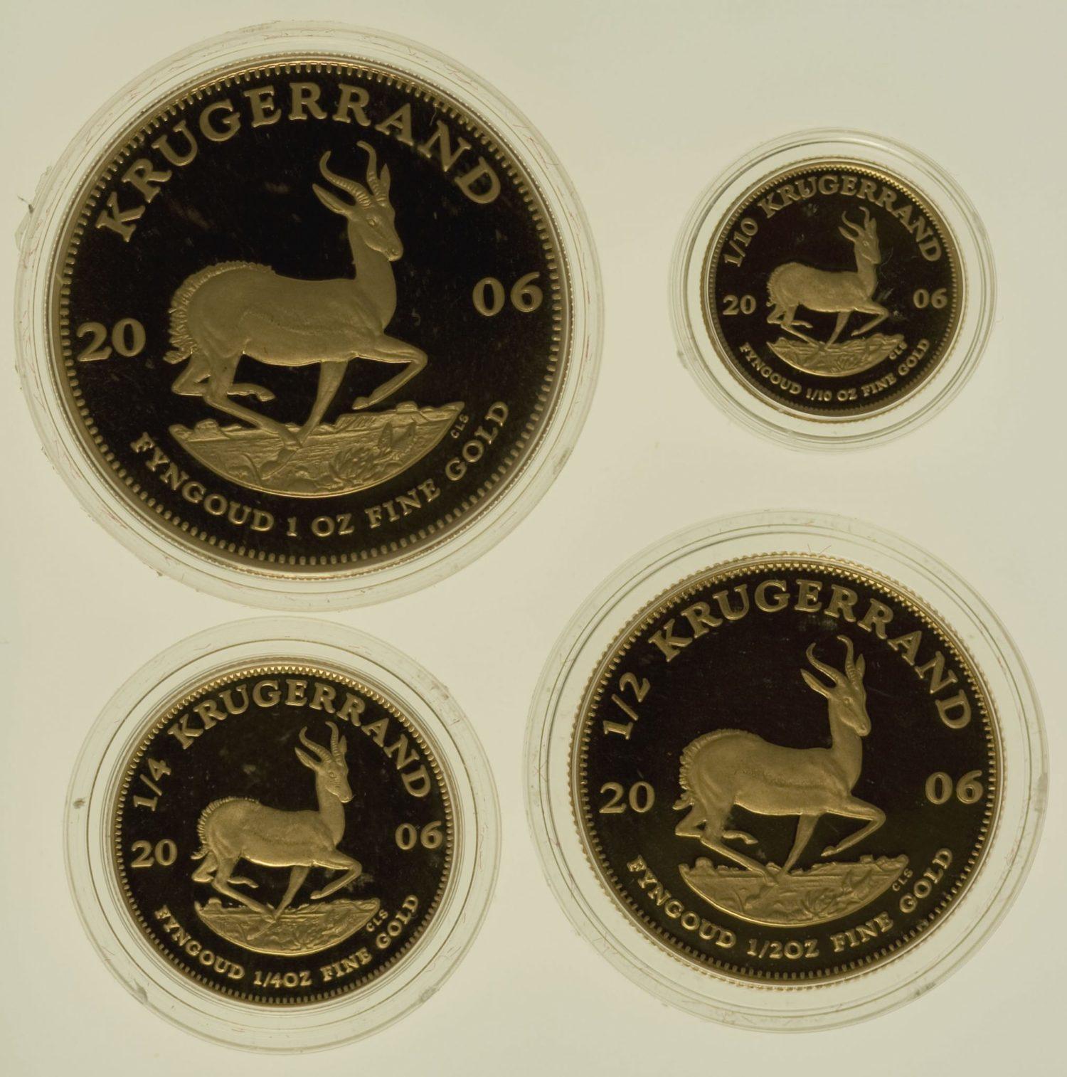 suedafrika - Südafrika Krügerrand 4 Coin Proof Set 2006