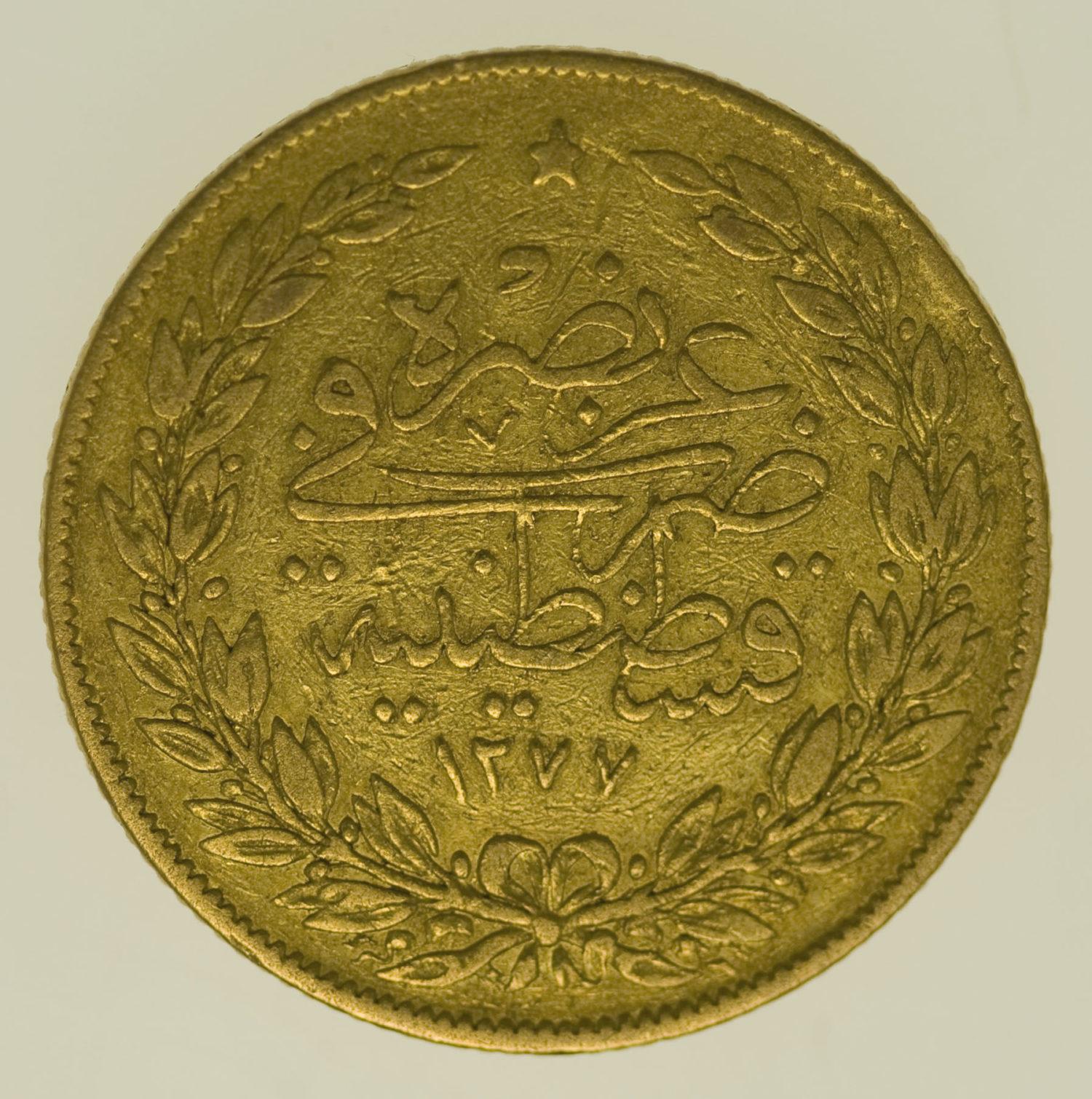 tuerkei - Türkei Abdul Aziz 100 Kurush 1865