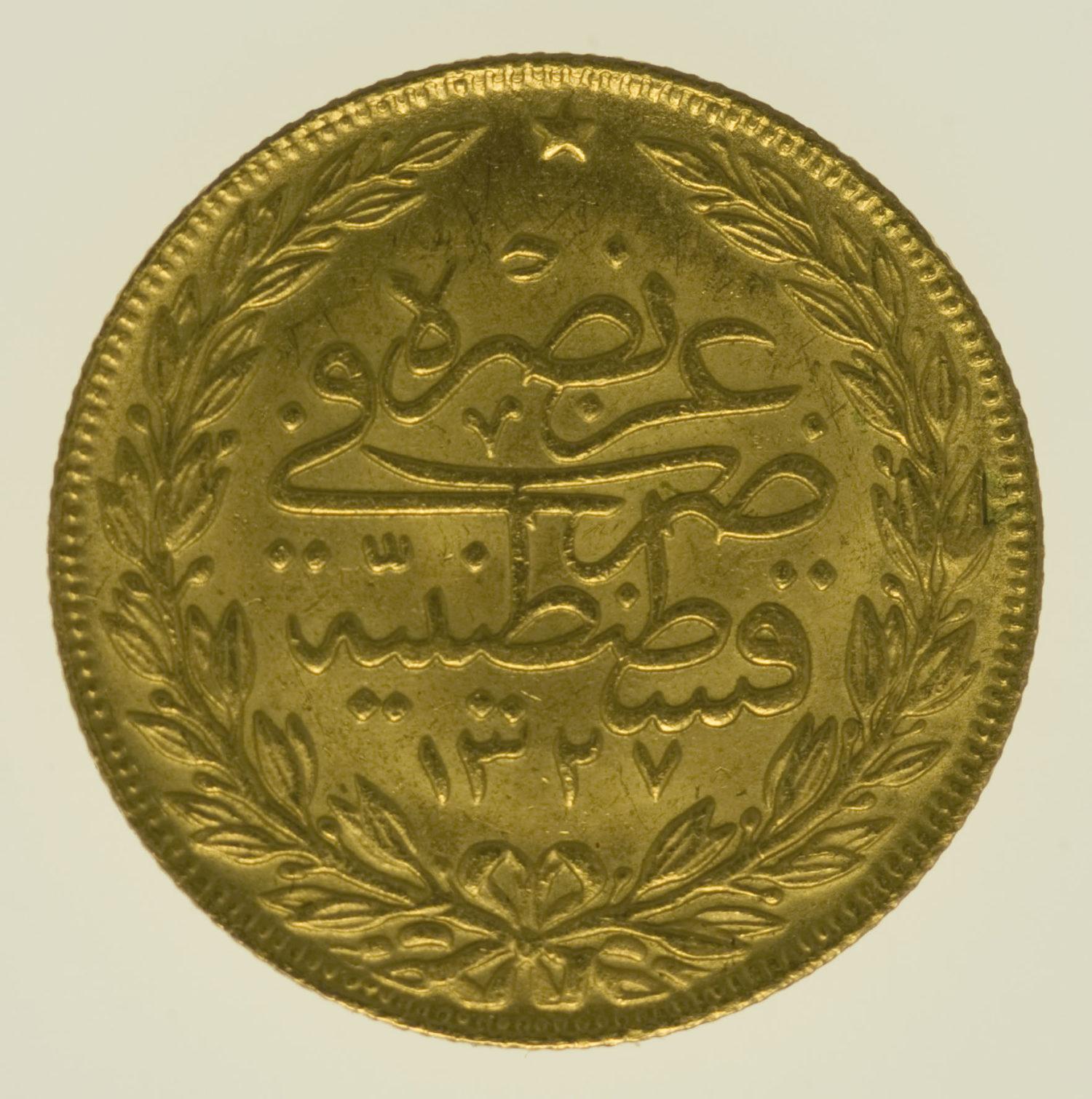 tuerkei - Türkei Muhammad V. 100 Kurush 1918