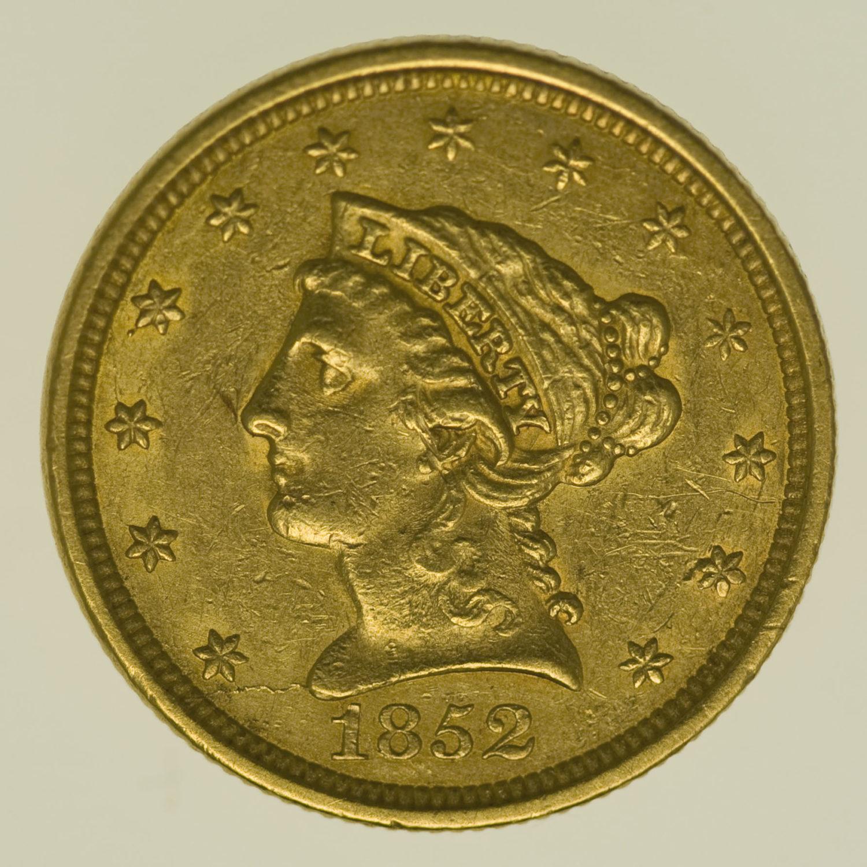 usa - USA 2,5 Dollars 1852 Liberty / Kopf