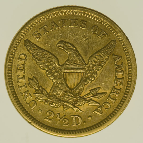usa - USA 2,5 Dollars 1852 Liberty / Kopf