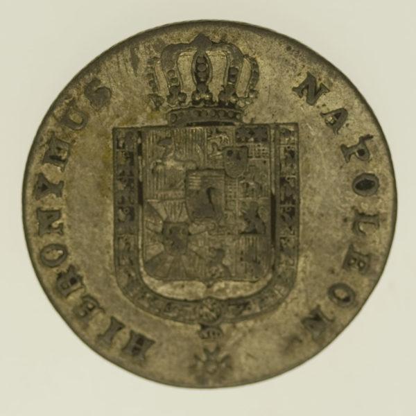 altdeutschland-deutsche-silbermuenzen - Westfalen Hieronymus Napoleon 1/6 Taler 1813