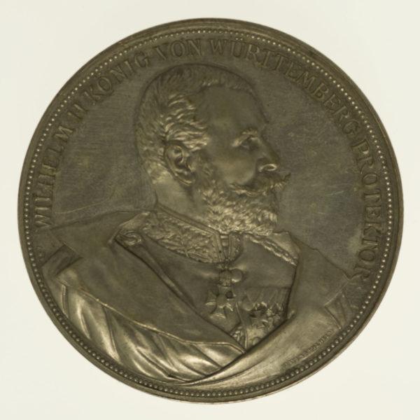 altdeutschland-deutsche-silbermuenzen - Württemberg Wilhelm II. Silbermedaille o.J.