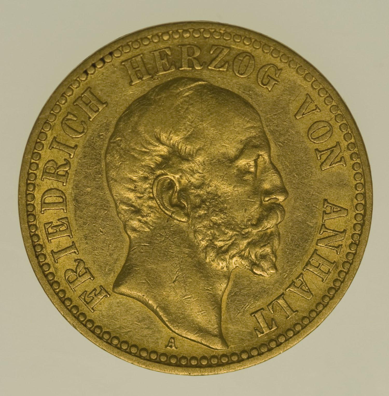 deutsches-kaiserreich-ab-1871 - Anhalt Friedrich I. 10 Mark 1896