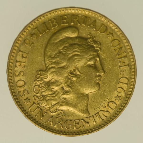 argentinien - Argentinien 5 Pesos / Argentino 1888