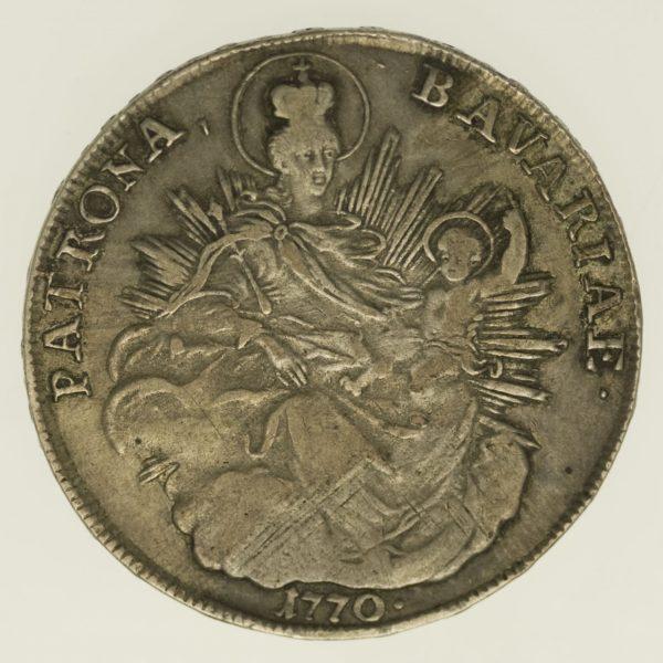 altdeutschland-deutsche-silbermuenzen - Bayern Maximilian III. Joseph Taler 1770