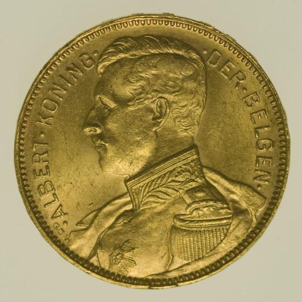 belgien - Belgien Albert 20 Francs 1914