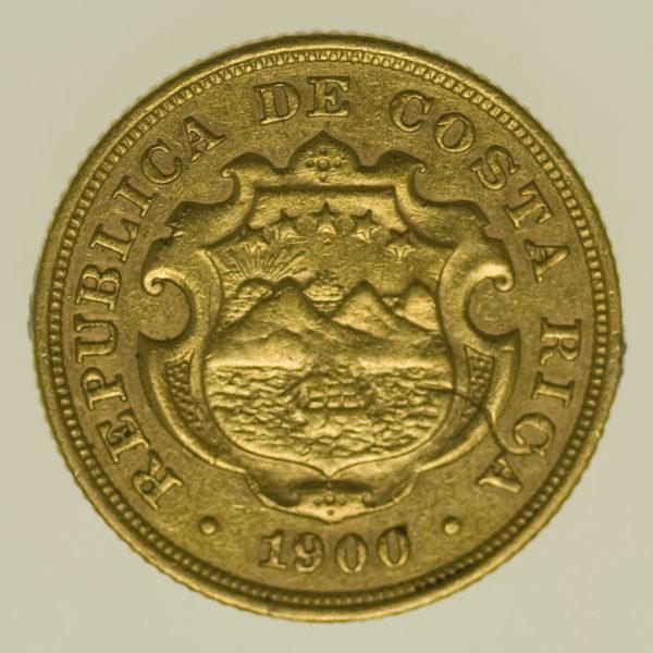 costa-rica - Costa Rica 10 Colones 1900