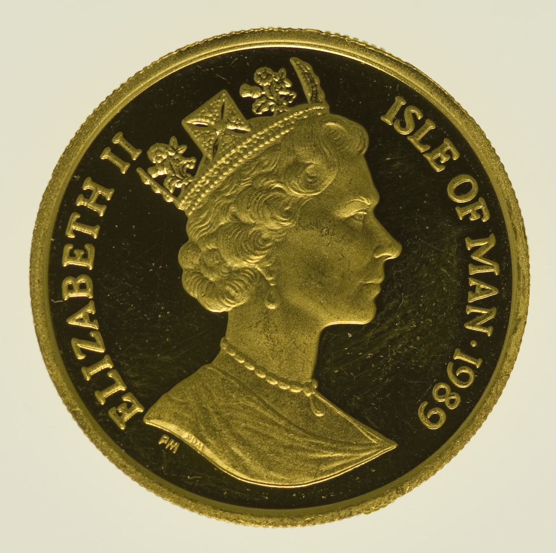 isle-of-man - Isle of Man Elisabeth II. 1/5 Crown 1989