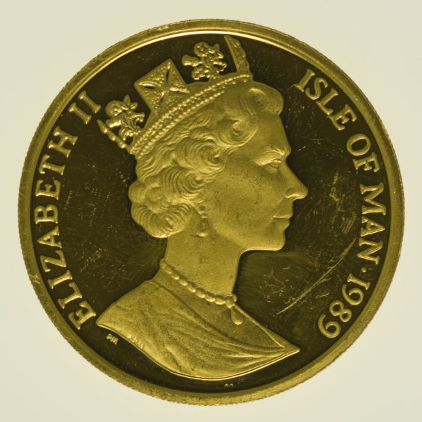 isle-of-man - Isle of Man Elisabeth II. Half Crown 1989