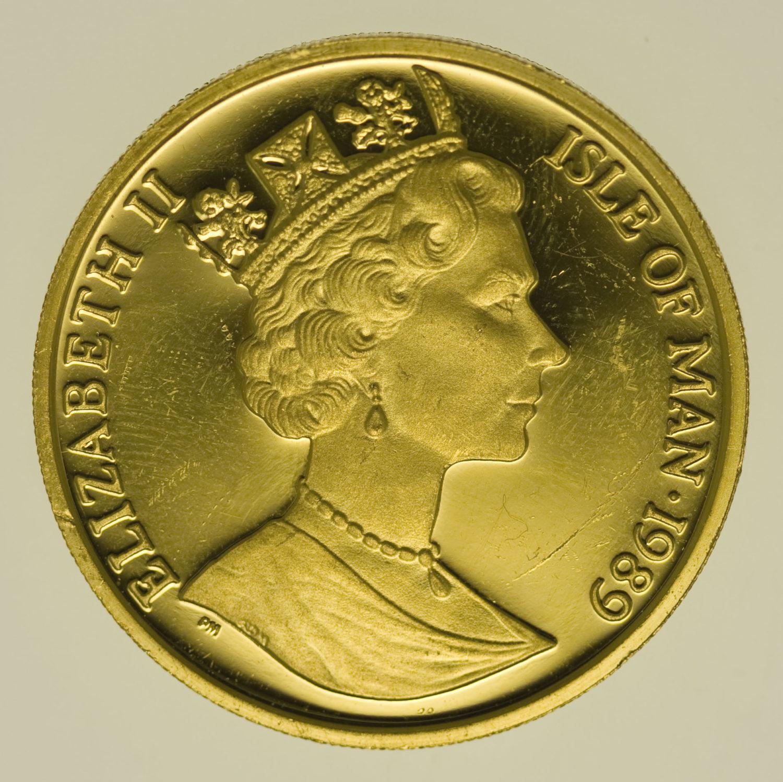 isle-of-man - Isle of Man Elisabeth II. Half Crown 1989