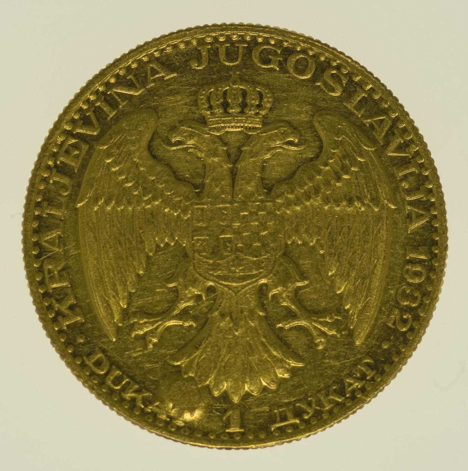 jugoslawien - Jugoslawien Alexander I. Dukat 1932
