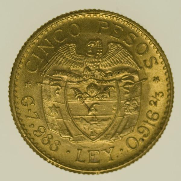 kolumbien - Kolumbien 5 Pesos 1930