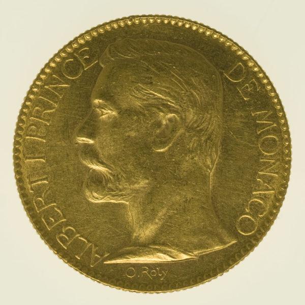 monaco - Monaco Albert I. 100 Francs 1891