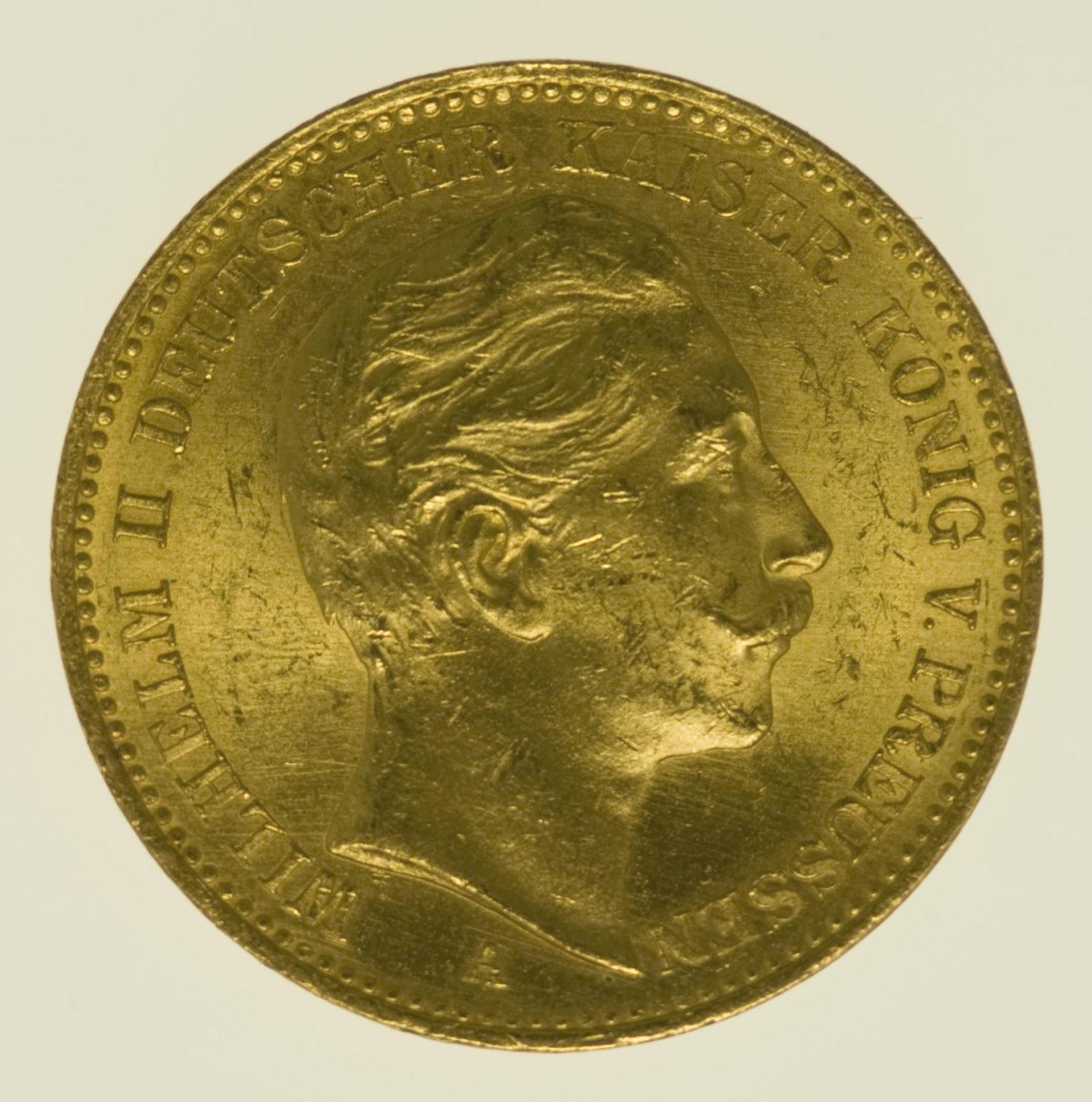 deutsches-kaiserreich-ab-1871 - Preussen Wilhelm II.20 Mark1898 A