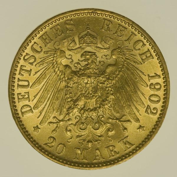deutsches-kaiserreich-ab-1871 - Preussen Wilhelm II.20 Mark1902 A