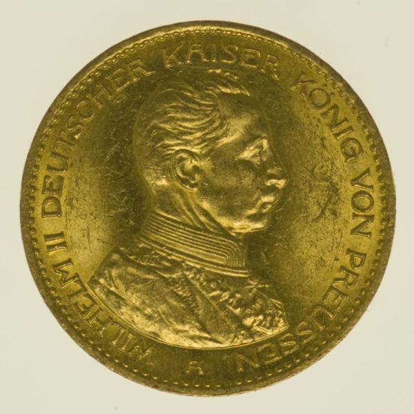 deutsches-kaiserreich-ab-1871 - Preussen Wilhelm II.20 Mark 1914 A